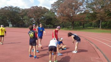 2018/10/17の颯走塾水曜マラソン練習会in織田フィールド6