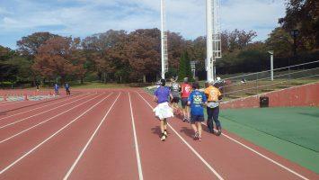 2018/10/24の颯走塾水曜マラソン練習会in織田フィールド1