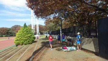 2018/10/24の颯走塾水曜マラソン練習会in織田フィールド6