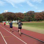2018/10/24の颯走塾水曜マラソン練習会in織田フィールド7