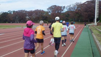 2018/11/14の颯走塾水曜マラソン練習会in織田フィールド1