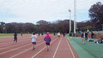 2018/11/14の颯走塾水曜マラソン練習会in織田フィールド2