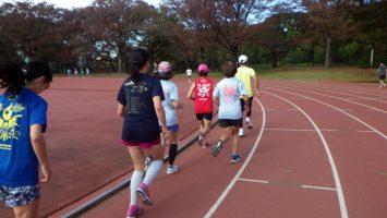 2018/11/14の颯走塾水曜マラソン練習会in織田フィールド5