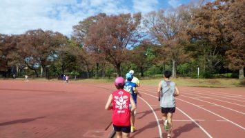 2018/11/14の颯走塾水曜マラソン練習会in織田フィールド6