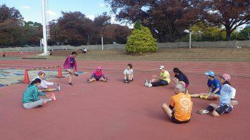2018/11/14の颯走塾水曜マラソン練習会in織田フィールド9