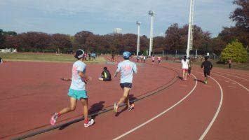 2018/11/21の颯走塾水曜マラソン練習会in織田フィールド2