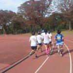 2018/11/21の颯走塾水曜マラソン練習会in織田フィールド4