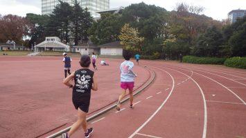 2018/12/05の颯走塾水曜マラソン練習会in織田フィールド3