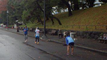 2018/12/12の颯走塾水曜マラソン練習会in皇居5