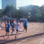 2018/12/19の颯走塾水曜マラソン練習会in織田フィールド2