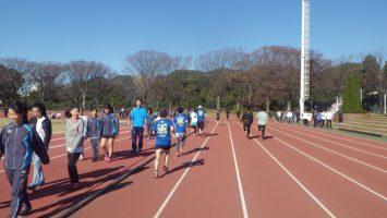 2018/12/19の颯走塾水曜マラソン練習会in織田フィールド3