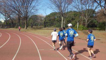 2018/12/19の颯走塾水曜マラソン練習会in織田フィールド5