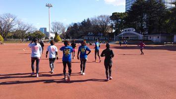 2019/01/09の颯走塾水曜マラソン練習会in織田フィールド4