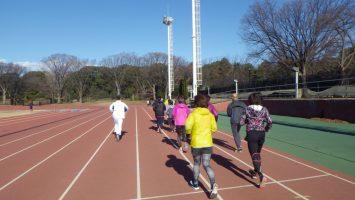 2019/01/09の颯走塾水曜マラソン練習会in織田フィールド1