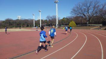 2019/01/09の颯走塾水曜マラソン練習会in織田フィールド5