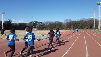 2019/01/09の颯走塾水曜マラソン練習会in織田フィールド6