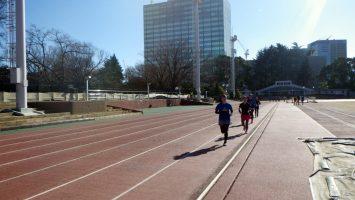 2019/01/09の颯走塾水曜マラソン練習会in織田フィールド7
