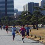 2019/01/16の颯走塾水曜マラソン練習会in皇居2