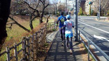2019/01/16の颯走塾水曜マラソン練習会in皇居6