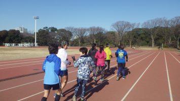 2019/01/23の颯走塾水曜マラソン練習会in織田フィールド1