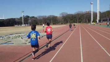 2019/01/23の颯走塾水曜マラソン練習会in織田フィールド3