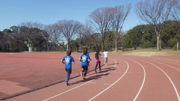 2019/01/23の颯走塾水曜マラソン練習会in織田フィールド4