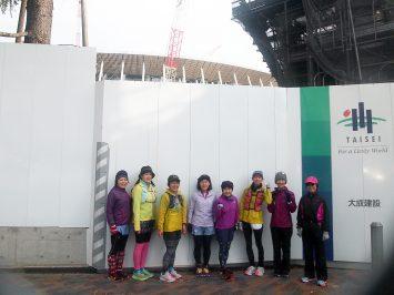 2018/12/26の颯走塾・東京オリンピックマラソンコース試走会2