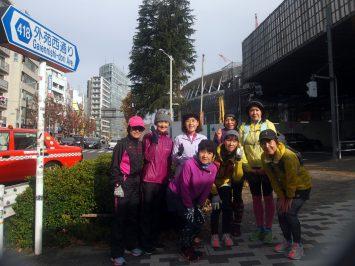 2018/12/26の颯走塾・東京オリンピックマラソンコース試走会1