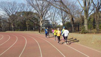 2019/01/30の颯走塾水曜マラソン練習会in織田フィールド1