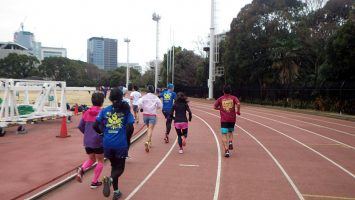 2019/02/13の颯走塾水曜マラソン練習会in織田フィールド2