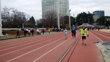 2019/02/13の颯走塾水曜マラソン練習会in織田フィールド3
