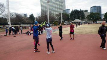 2019/02/13の颯走塾水曜マラソン練習会in織田フィールド5