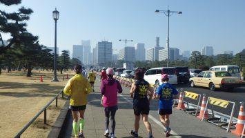 2019/02/20の颯走塾水曜マラソン練習会in皇居2