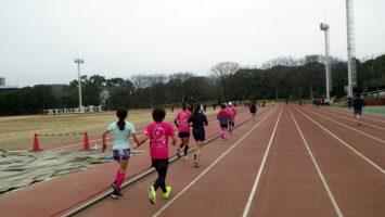 2019/02/27の颯走塾水曜マラソン練習会in織田フィールド3