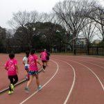 2019/02/27の颯走塾水曜マラソン練習会in織田フィールド4