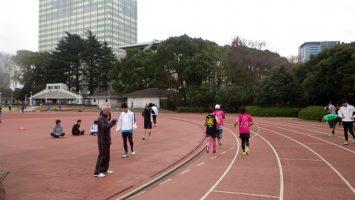 2019/02/27の颯走塾水曜マラソン練習会in織田フィールド6