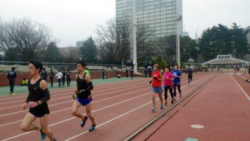 2019/03/06の颯走塾水曜マラソン練習会in織田フィールド2