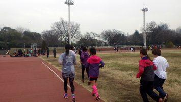2019/03/06の颯走塾水曜マラソン練習会in織田フィールド4