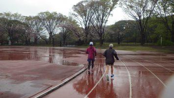 2019/04/10の颯走塾水曜マラソン練習会in織田フィールド1