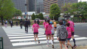2019/04/17の颯走塾水曜マラソン練習会in皇居1