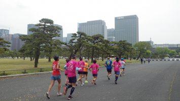 2019/04/17の颯走塾水曜マラソン練習会in皇居7