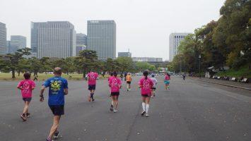 2019/04/17の颯走塾水曜マラソン練習会in皇居8