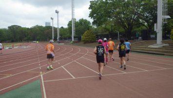 2019/04/24の颯走塾水曜マラソン練習会in織田フィールド1