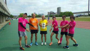 2019/05/01の颯走塾水曜マラソン練習会in舎人公園1