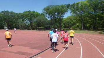 2019/05/08の颯走塾水曜マラソン練習会in織田フィールド4
