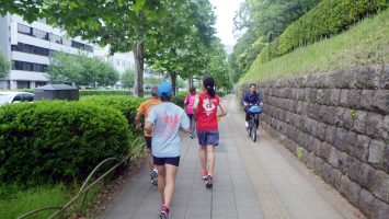 2019/05/15の颯走塾水曜マラソン練習会in東宮1
