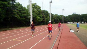 2019/05/29の颯走塾水曜マラソン練習会in織田フィールド3