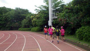 2019/06/12の颯走塾水曜マラソン練習会in織田フィールド1