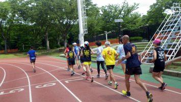 2019/06/19の颯走塾水曜マラソン練習会in織田フィールド1
