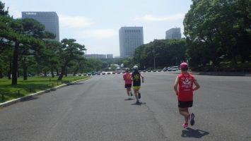 2019/06/26の颯走塾水曜マラソン練習会in皇居2